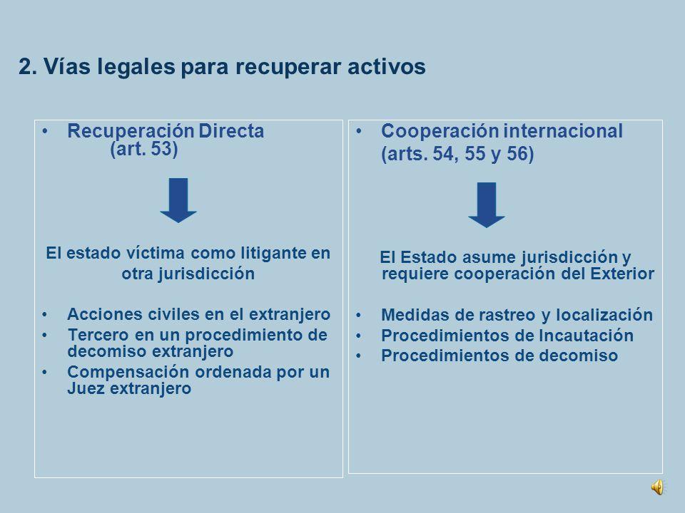 2. Vías legales para recuperar activos