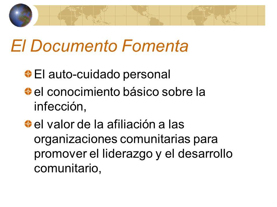 El Documento Fomenta El auto-cuidado personal
