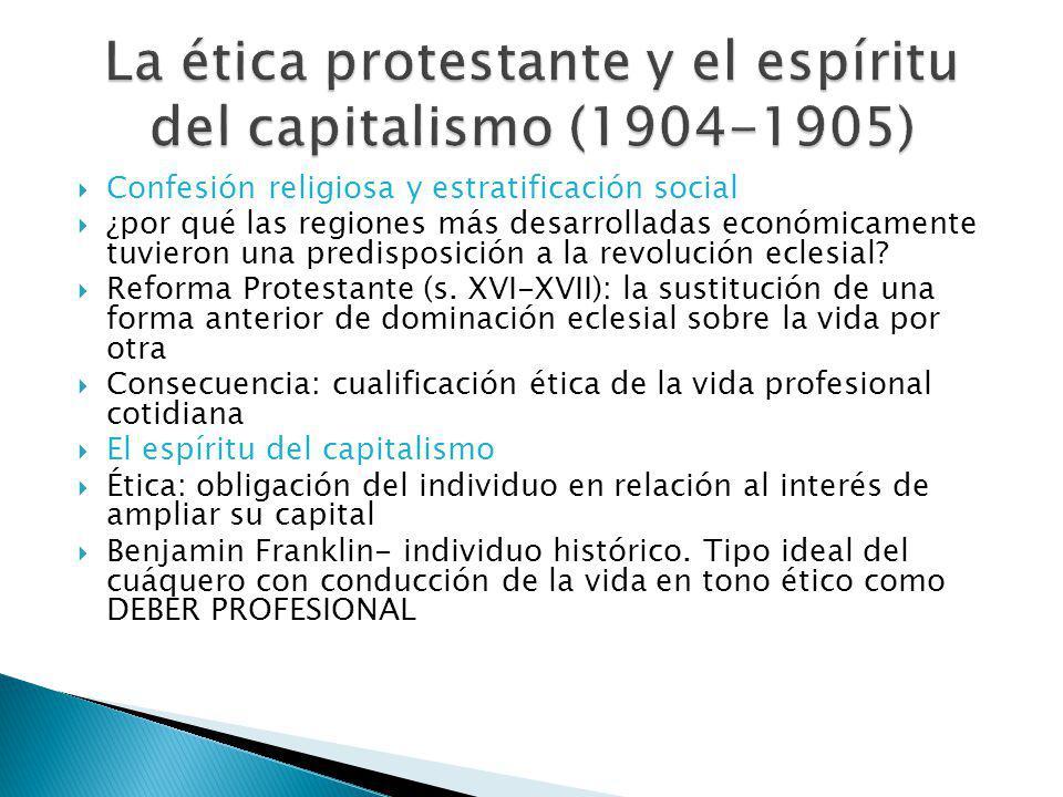 La ética protestante y el espíritu del capitalismo (1904-1905)