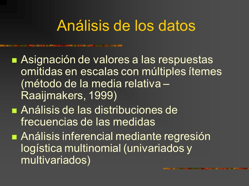 Análisis de los datos