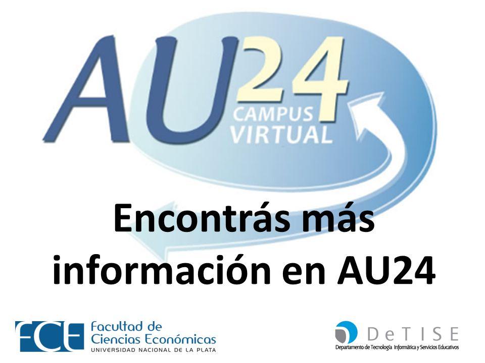 Encontrás más información en AU24