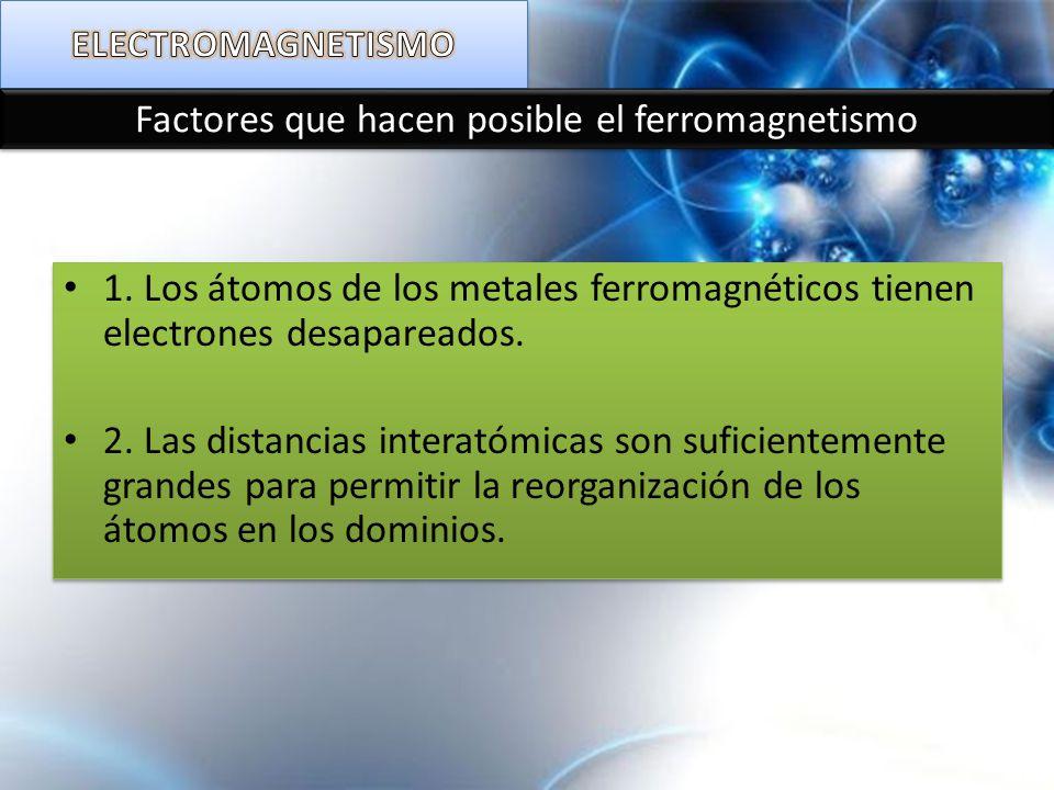 Factores que hacen posible el ferromagnetismo