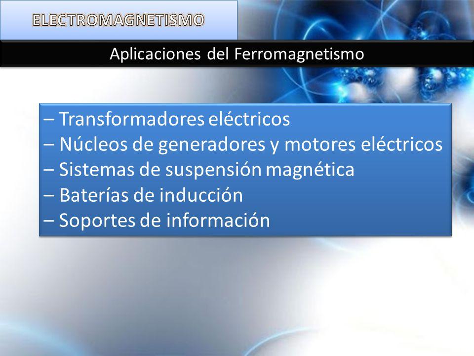 Aplicaciones del Ferromagnetismo