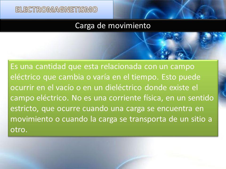 ELECTROMAGNETISMO Carga de movimiento.