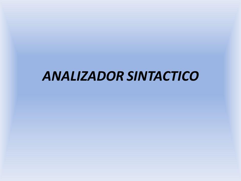 ANALIZADOR SINTACTICO
