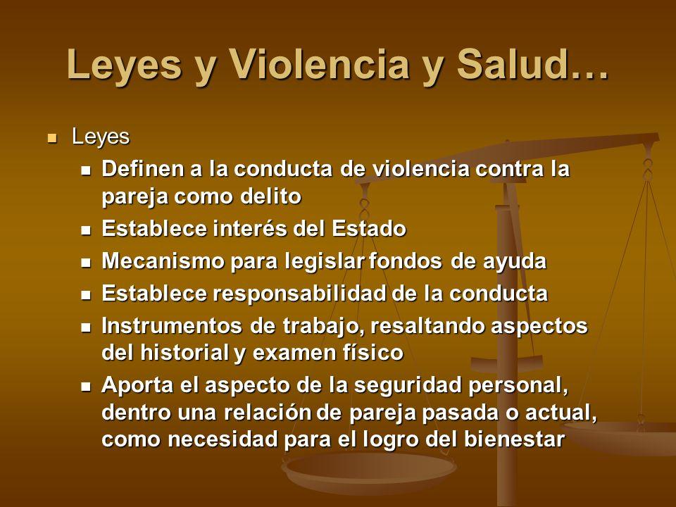 Leyes y Violencia y Salud…