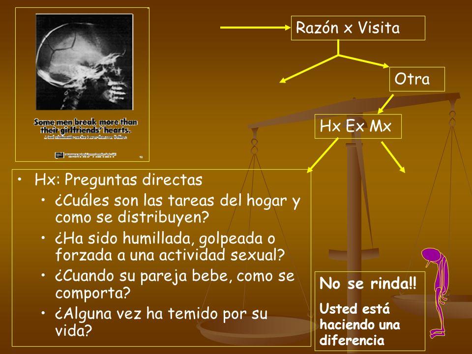 Hx: Preguntas directas