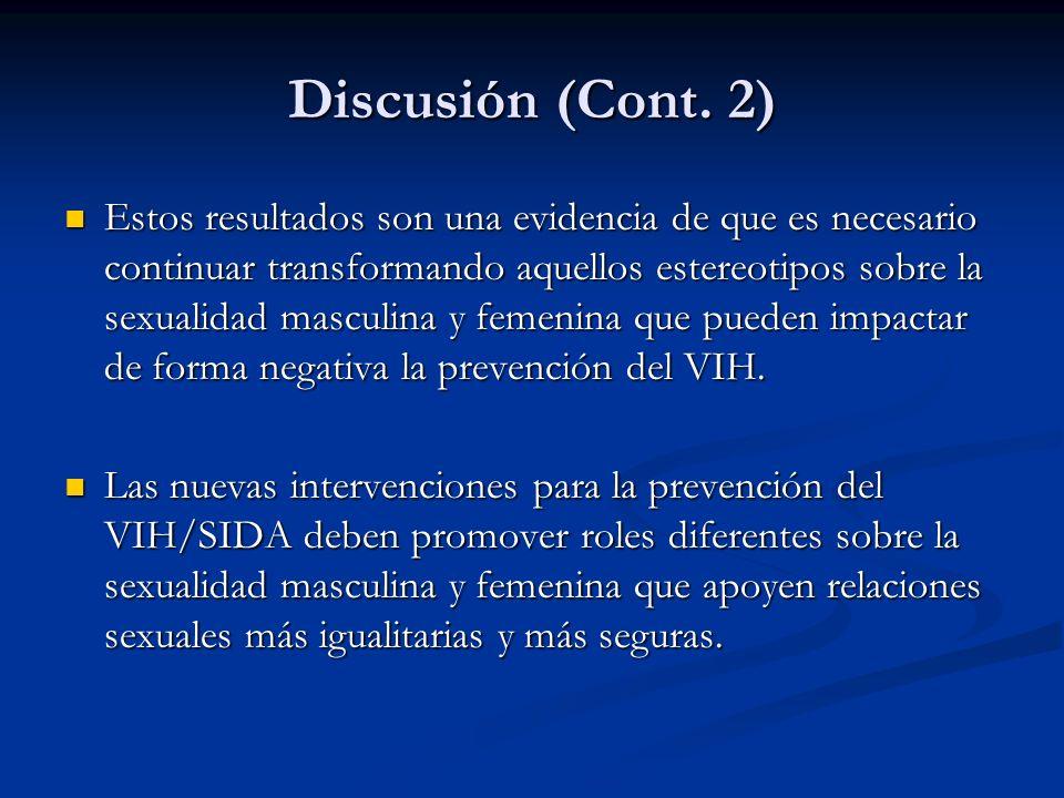 Discusión (Cont. 2)