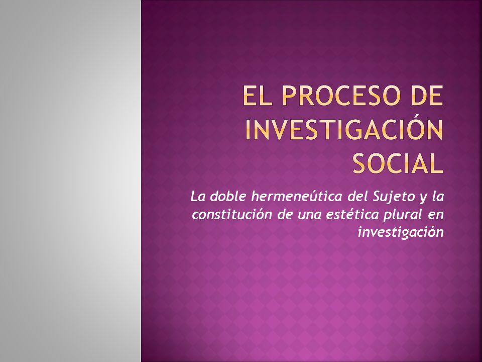 El proceso de investigación social