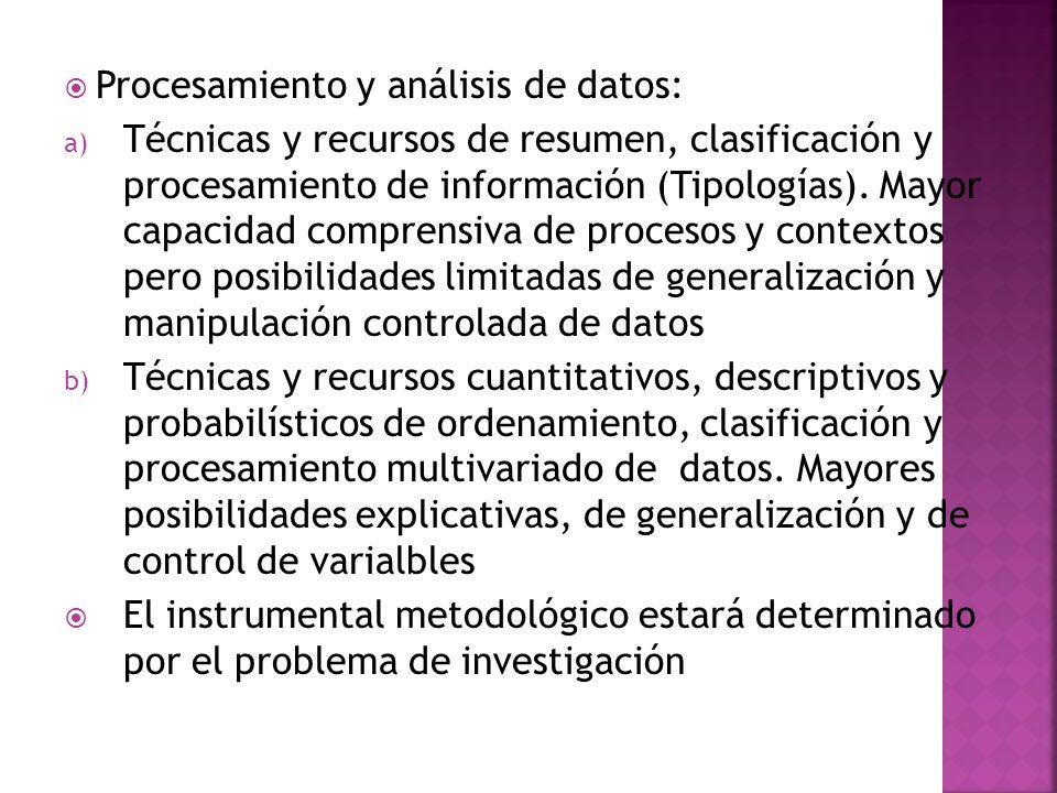 Procesamiento y análisis de datos: