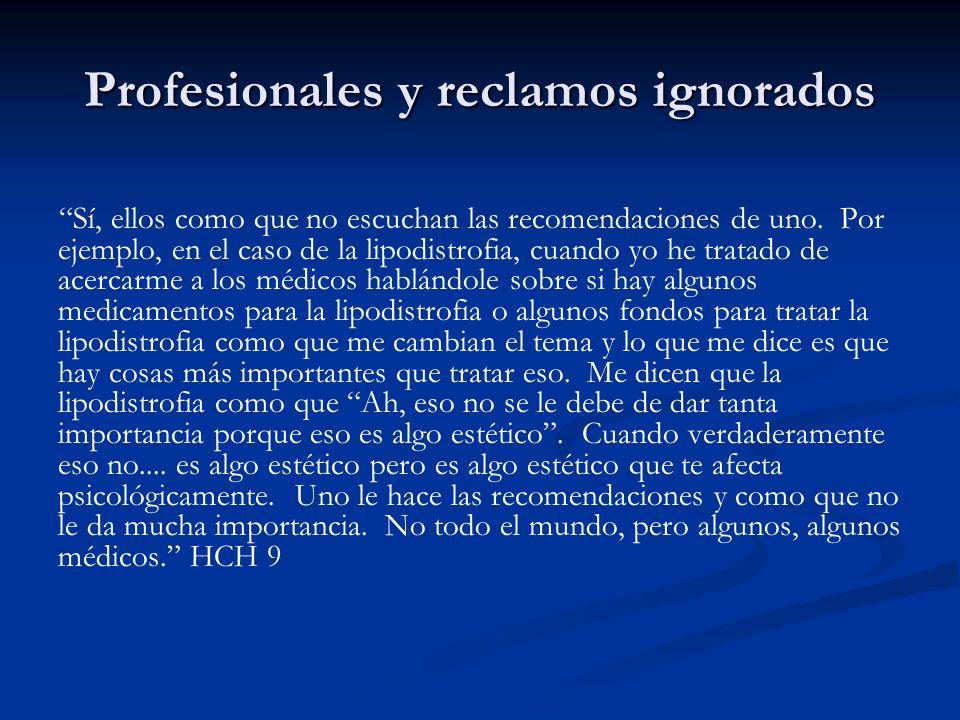 Profesionales y reclamos ignorados