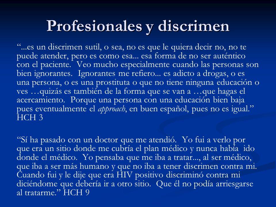 Profesionales y discrimen