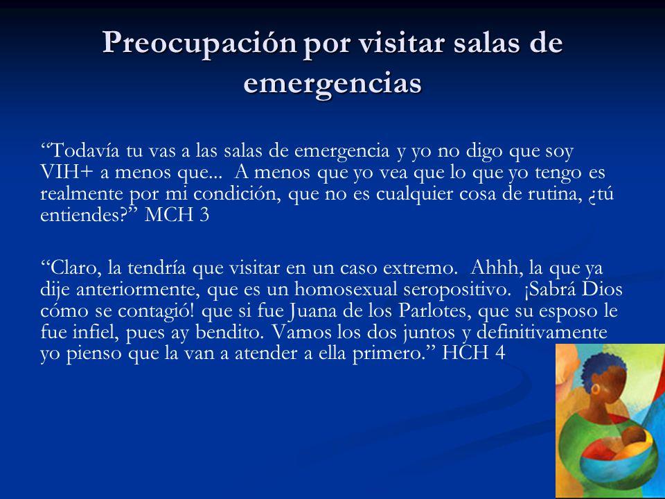 Preocupación por visitar salas de emergencias