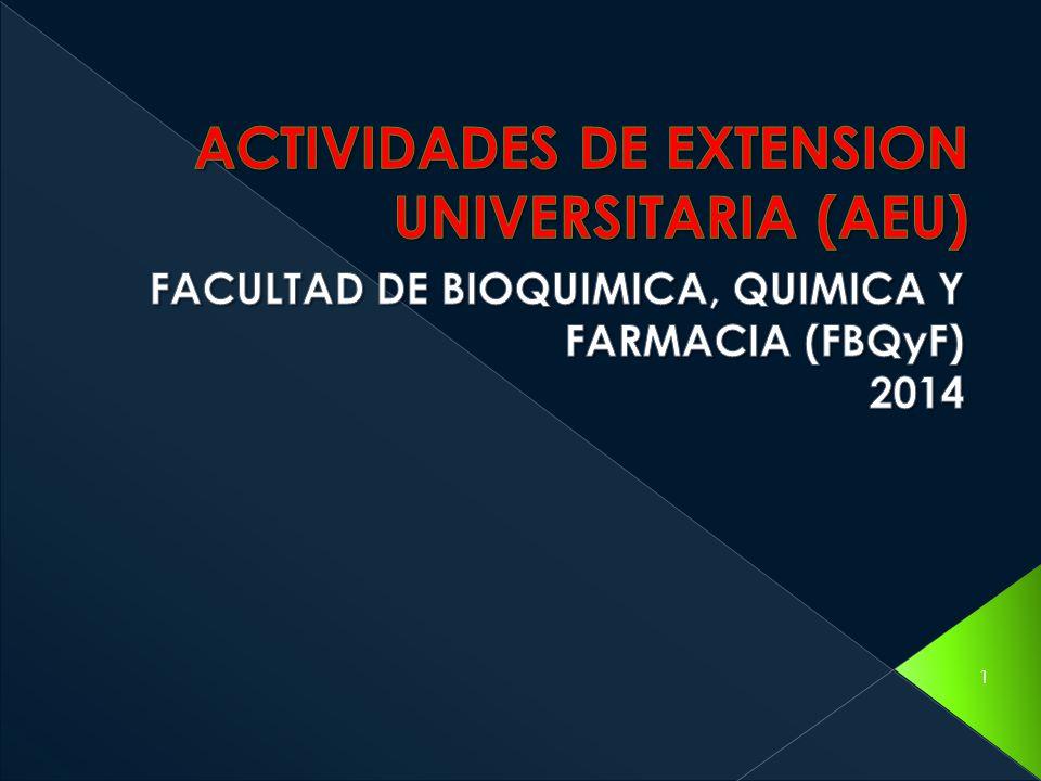 ACTIVIDADES DE EXTENSION UNIVERSITARIA (AEU)