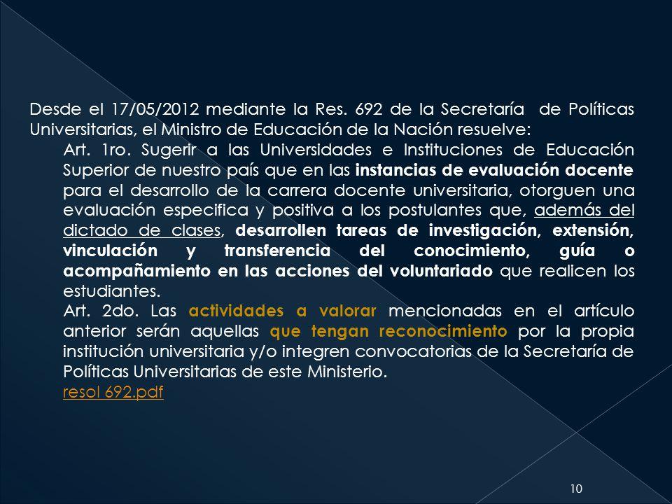 Desde el 17/05/2012 mediante la Res