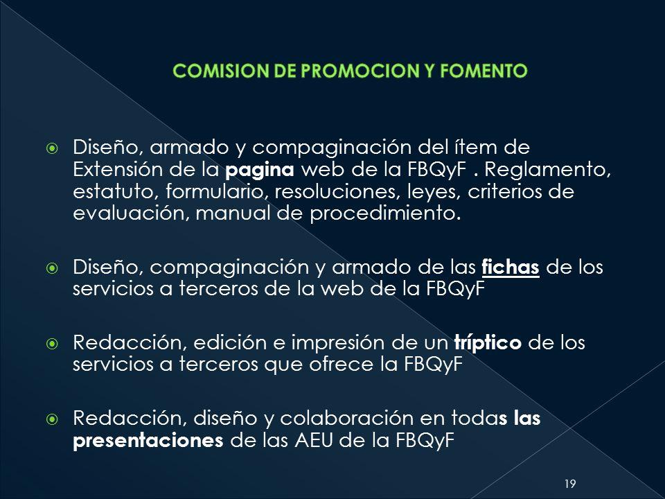 COMISION DE PROMOCION Y FOMENTO