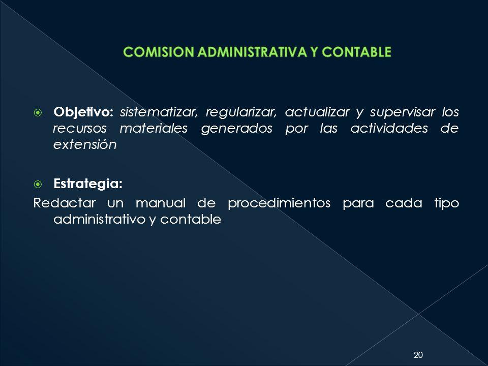 COMISION ADMINISTRATIVA Y CONTABLE
