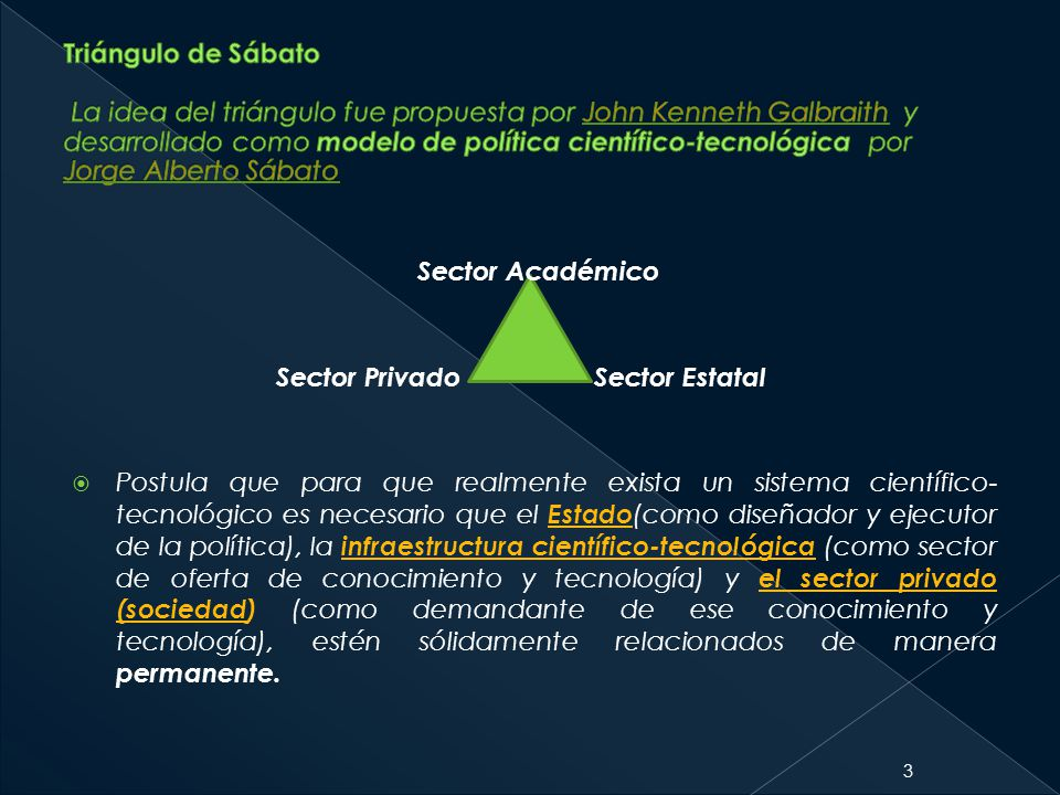 Sector Académico Sector Estatal Sector Privado