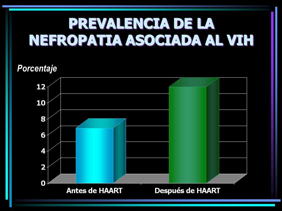 PREVALENCIA DE LA NEFROPATIA ASOCIADA AL VIH