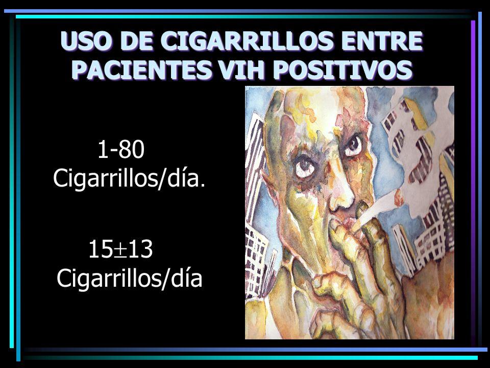 USO DE CIGARRILLOS ENTRE PACIENTES VIH POSITIVOS