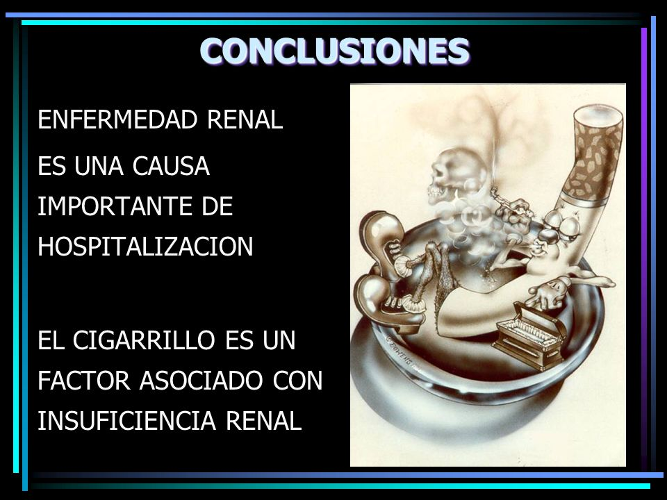 CONCLUSIONES ENFERMEDAD RENAL