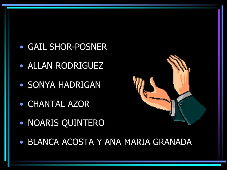 GAIL SHOR-POSNER ALLAN RODRIGUEZ. SONYA HADRIGAN.