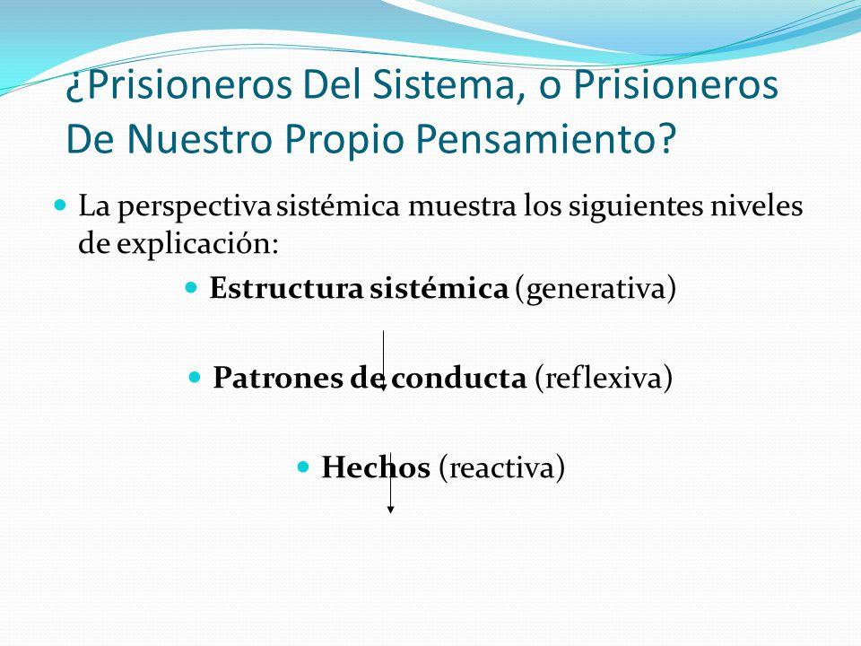 ¿Prisioneros Del Sistema, o Prisioneros De Nuestro Propio Pensamiento