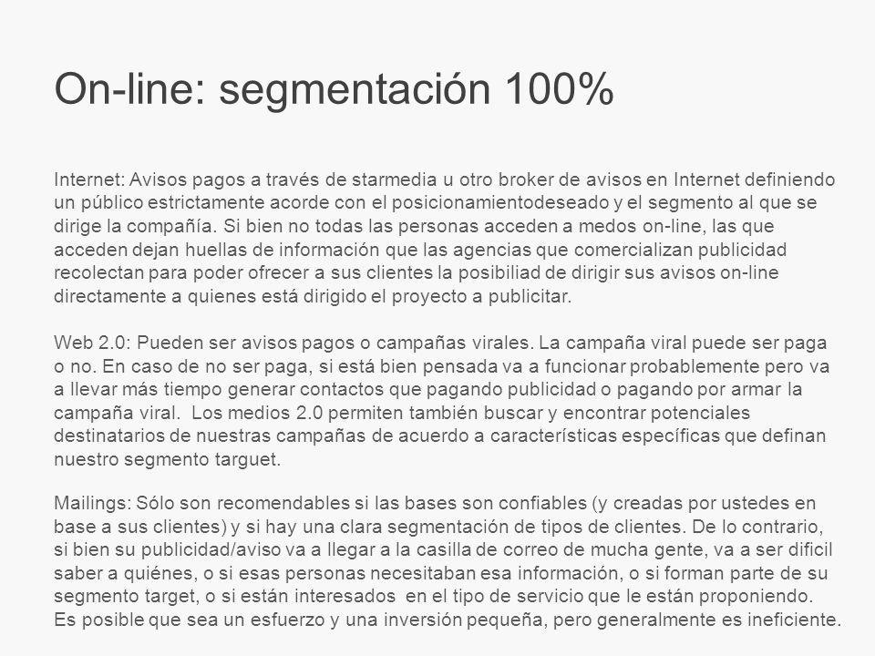 On-line: segmentación 100%