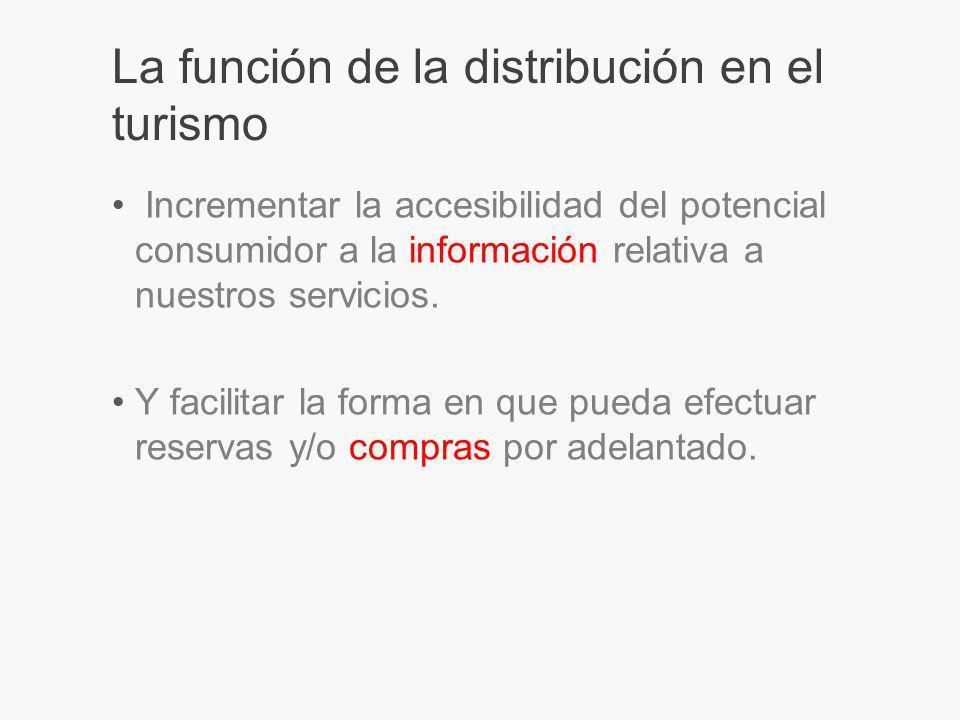 La función de la distribución en el turismo