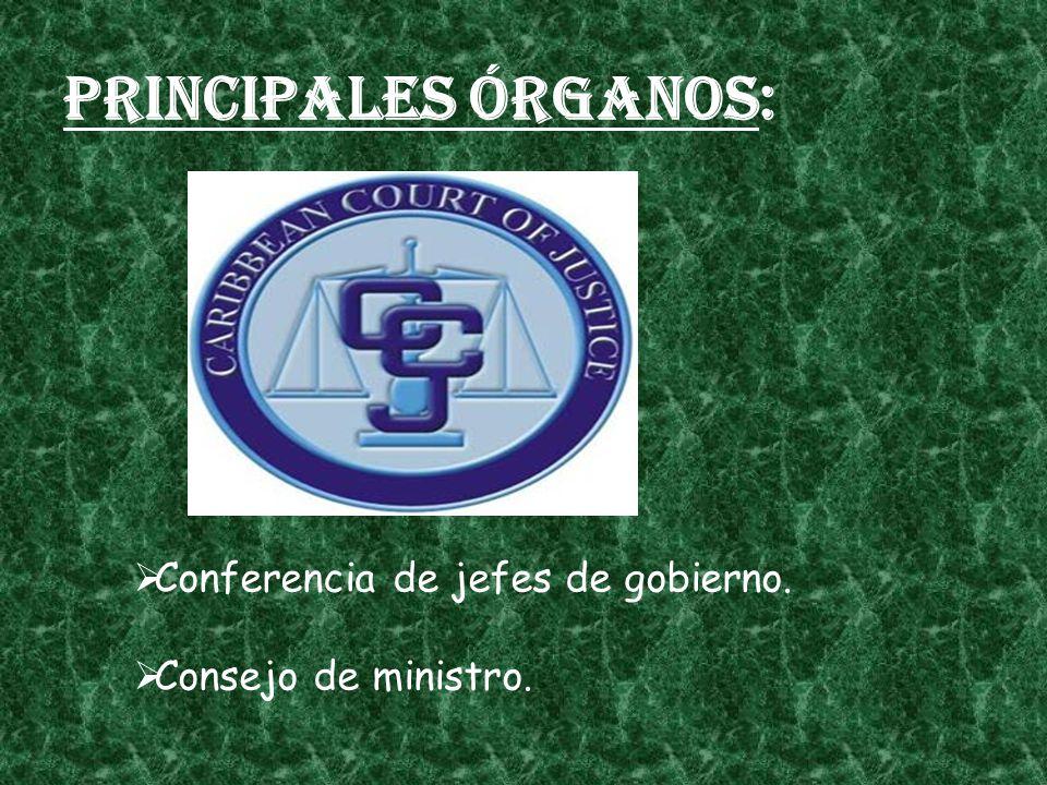 Principales órganos: Conferencia de jefes de gobierno.