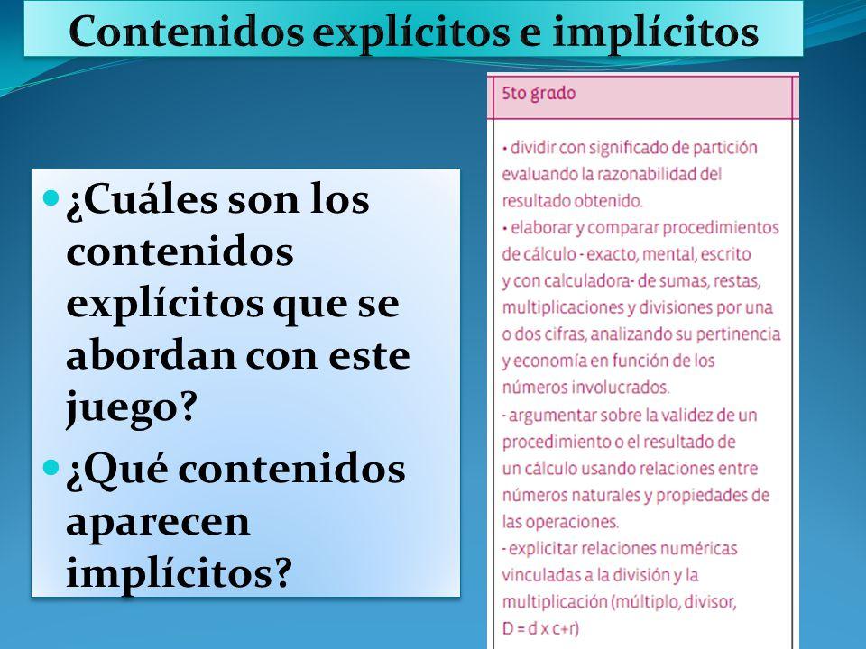 Contenidos explícitos e implícitos
