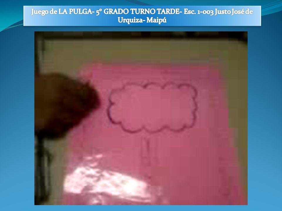 Juego de LA PULGA- 5° GRADO TURNO TARDE- Esc