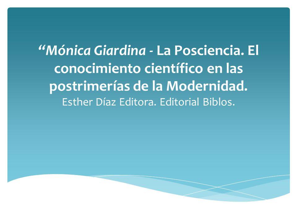 Mónica Giardina - La Posciencia