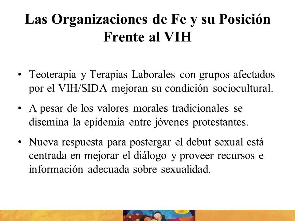 Las Organizaciones de Fe y su Posición Frente al VIH