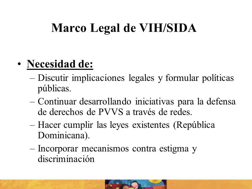 Marco Legal de VIH/SIDA