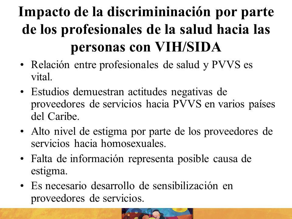 Impacto de la discrimininación por parte de los profesionales de la salud hacia las personas con VIH/SIDA