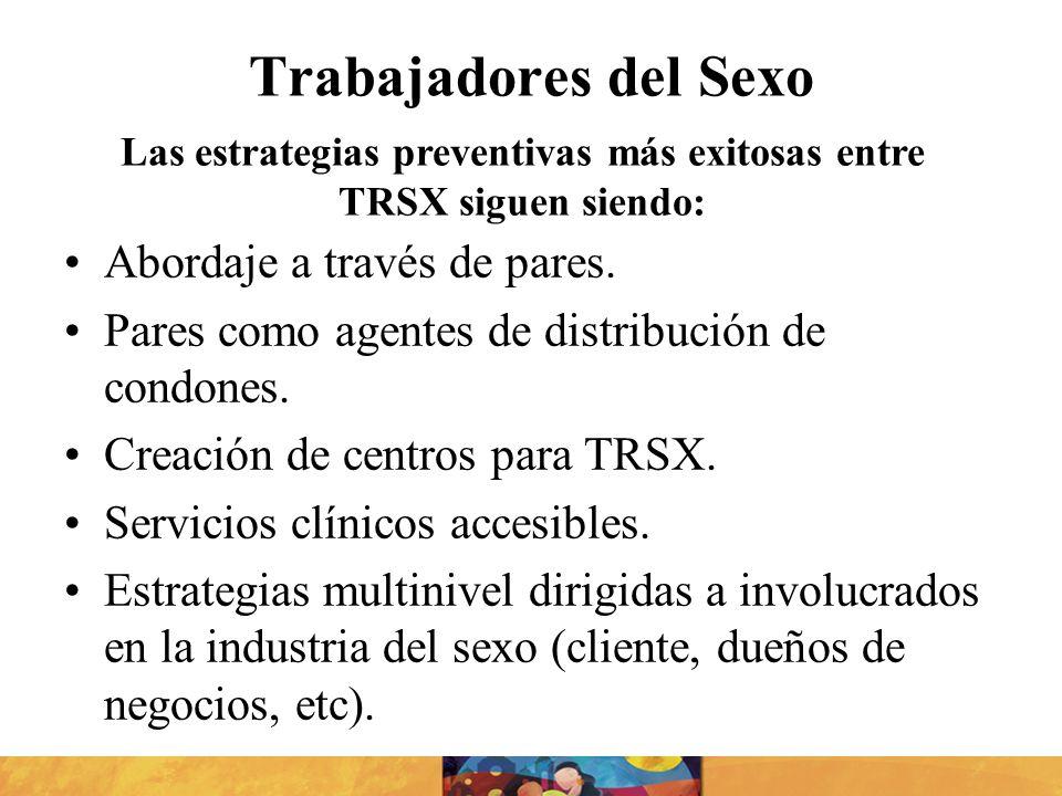 Las estrategias preventivas más exitosas entre TRSX siguen siendo: