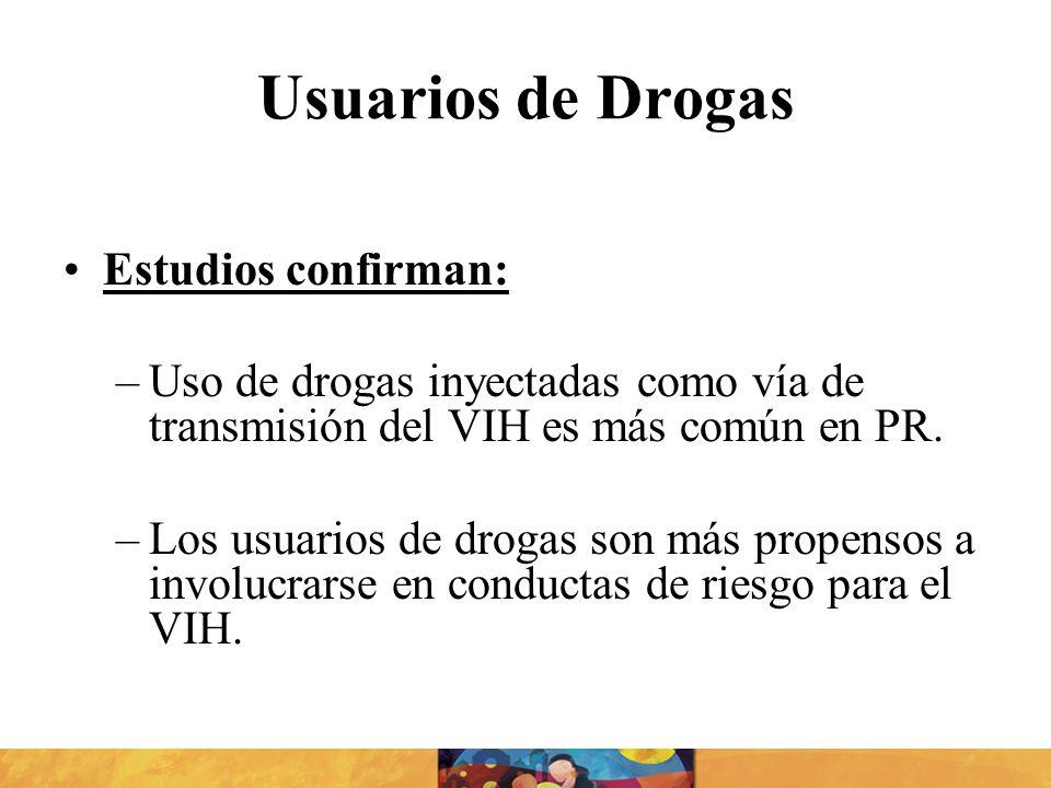 Usuarios de Drogas Estudios confirman: