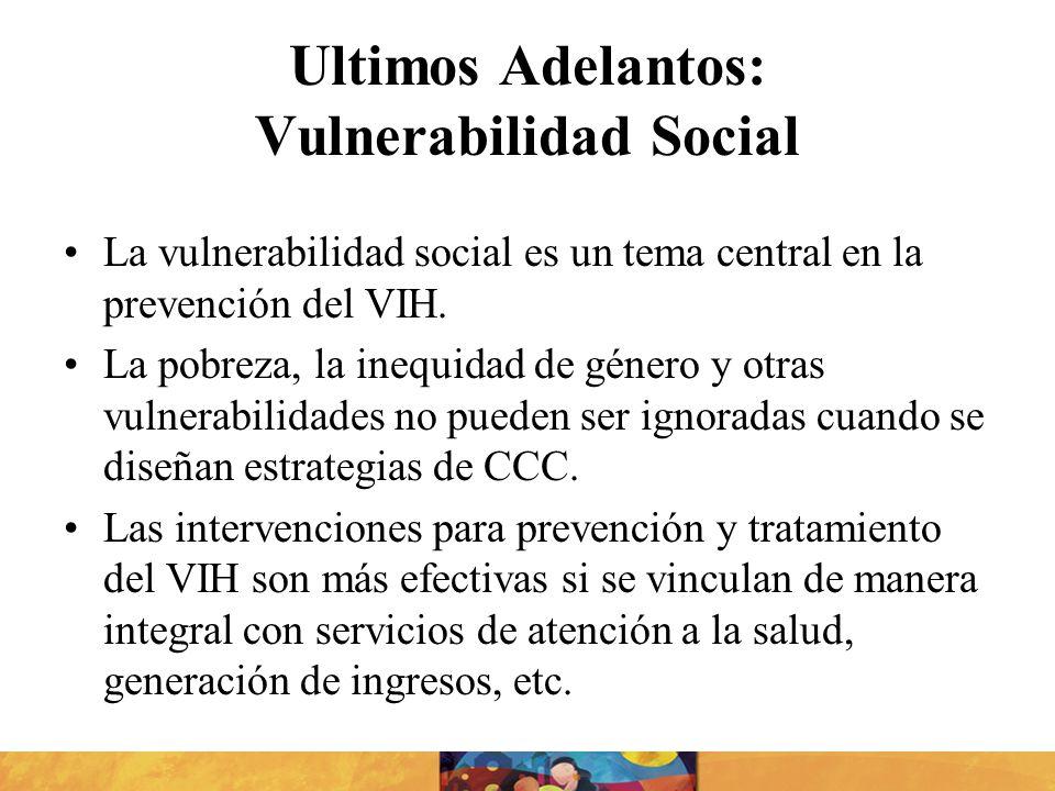 Ultimos Adelantos: Vulnerabilidad Social