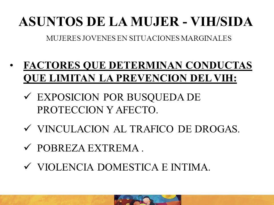 ASUNTOS DE LA MUJER - VIH/SIDA