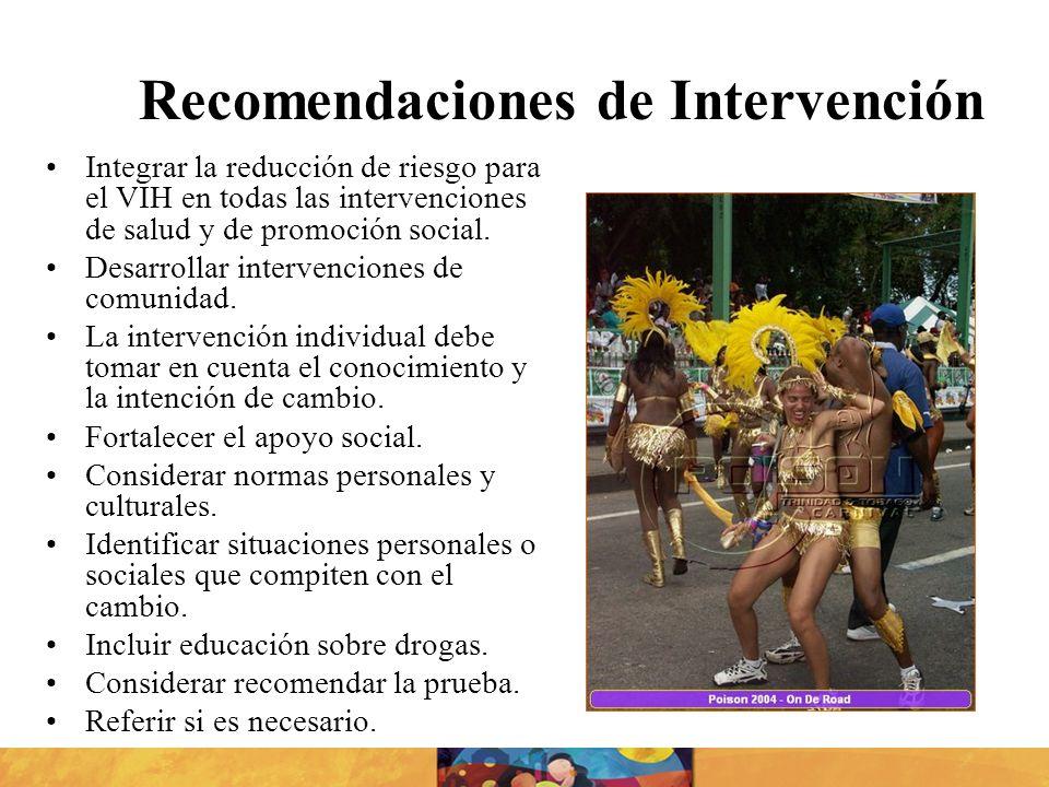 Recomendaciones de Intervención