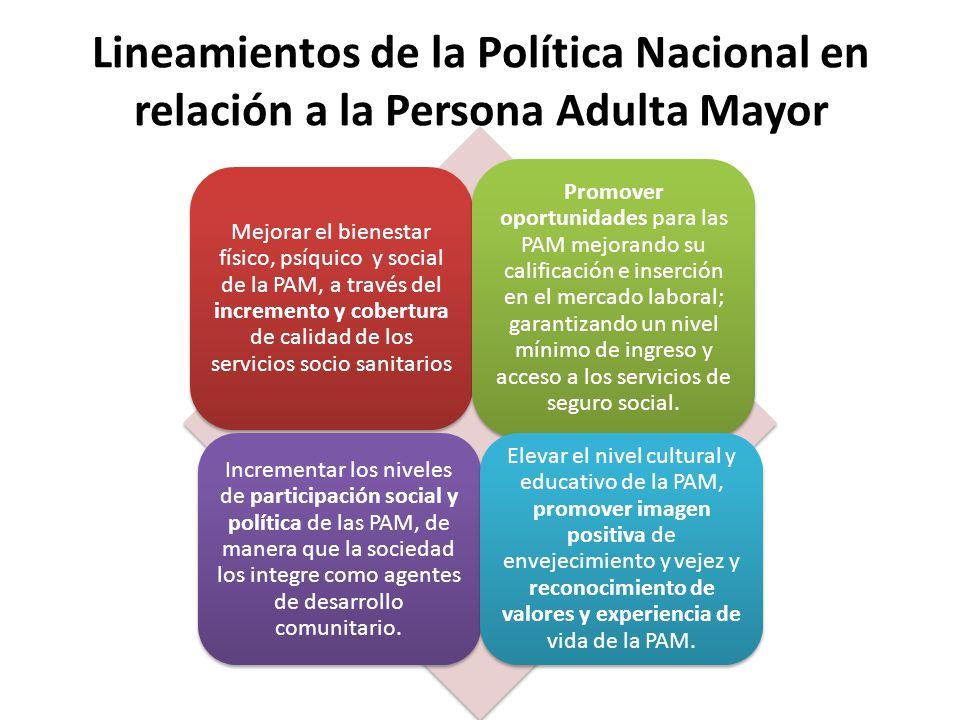 Lineamientos de la Política Nacional en relación a la Persona Adulta Mayor