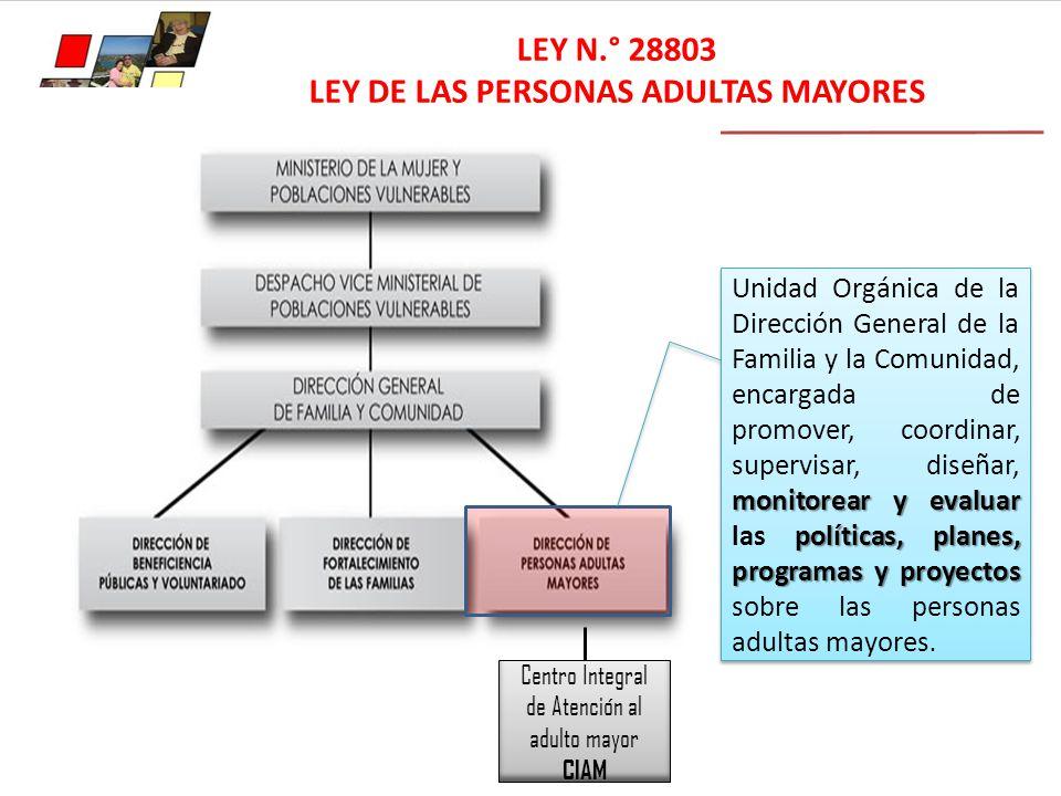 LEY DE LAS PERSONAS ADULTAS MAYORES