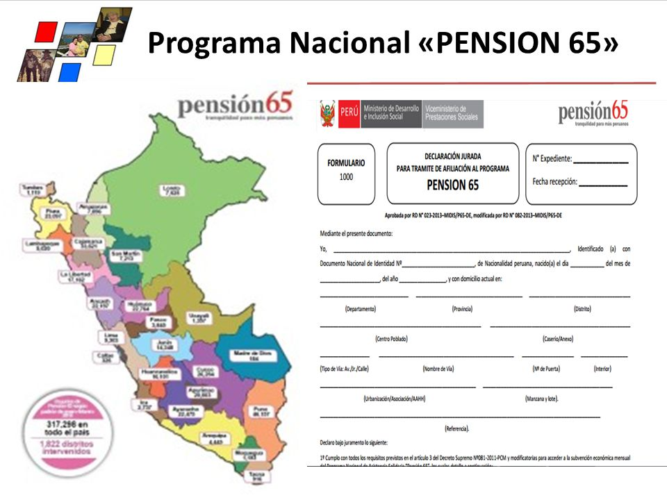 Programa Nacional «PENSION 65»