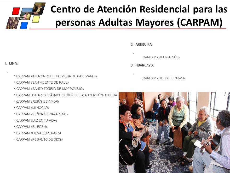 Centro de Atención Residencial para las personas Adultas Mayores (CARPAM)