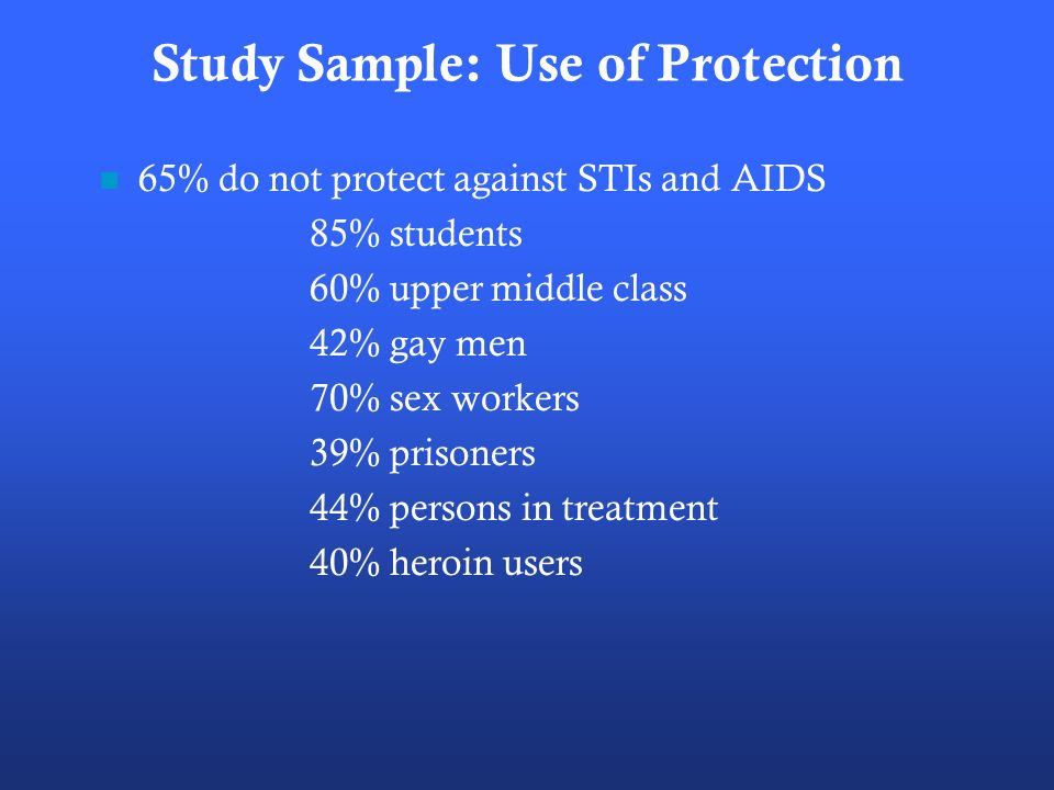 Study Sample: Use of Protection