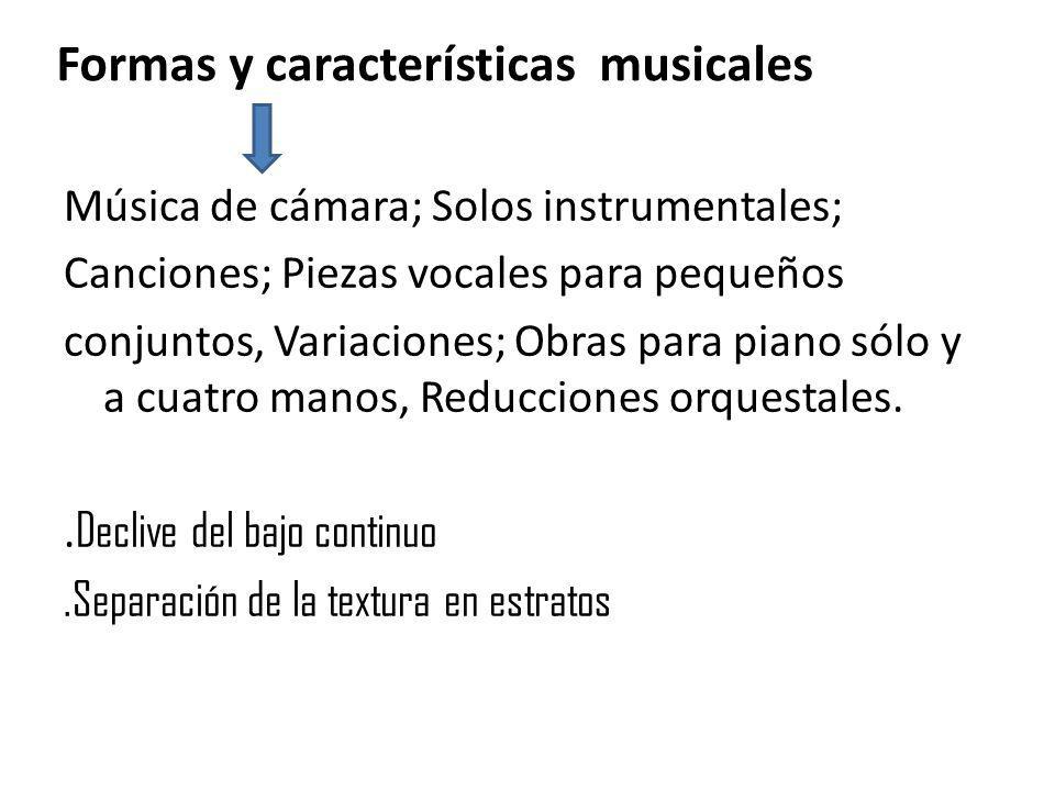 Formas y características musicales