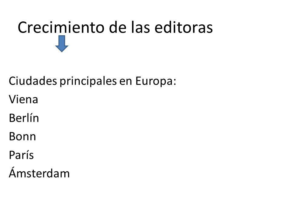Crecimiento de las editoras