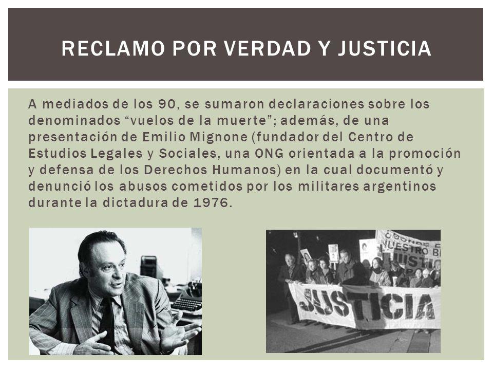 Reclamo por verdad y justicia
