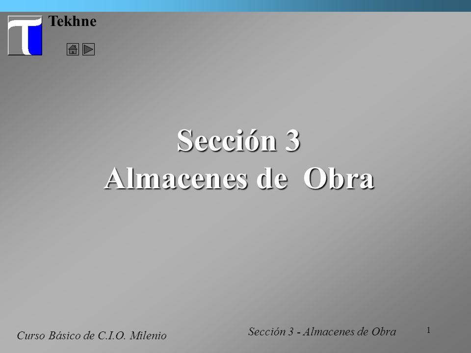 Sección 3 Almacenes de Obra